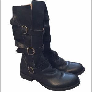 FIORENTINI + BAKER ETERNITY LEATHER MOTO BOOTS NEW